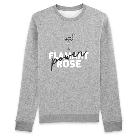 Sweat Flamant Rose Power (Coton Bio) | ROSEUS