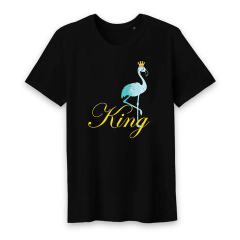 T-Shirt Flamant Rose King (Coton Bio) | ROSEUS