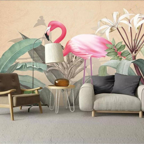 Tapisserie Flamant Rose Salon | ROSEUS