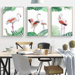 Tableau Flamant Rose tropical | ROSEUS