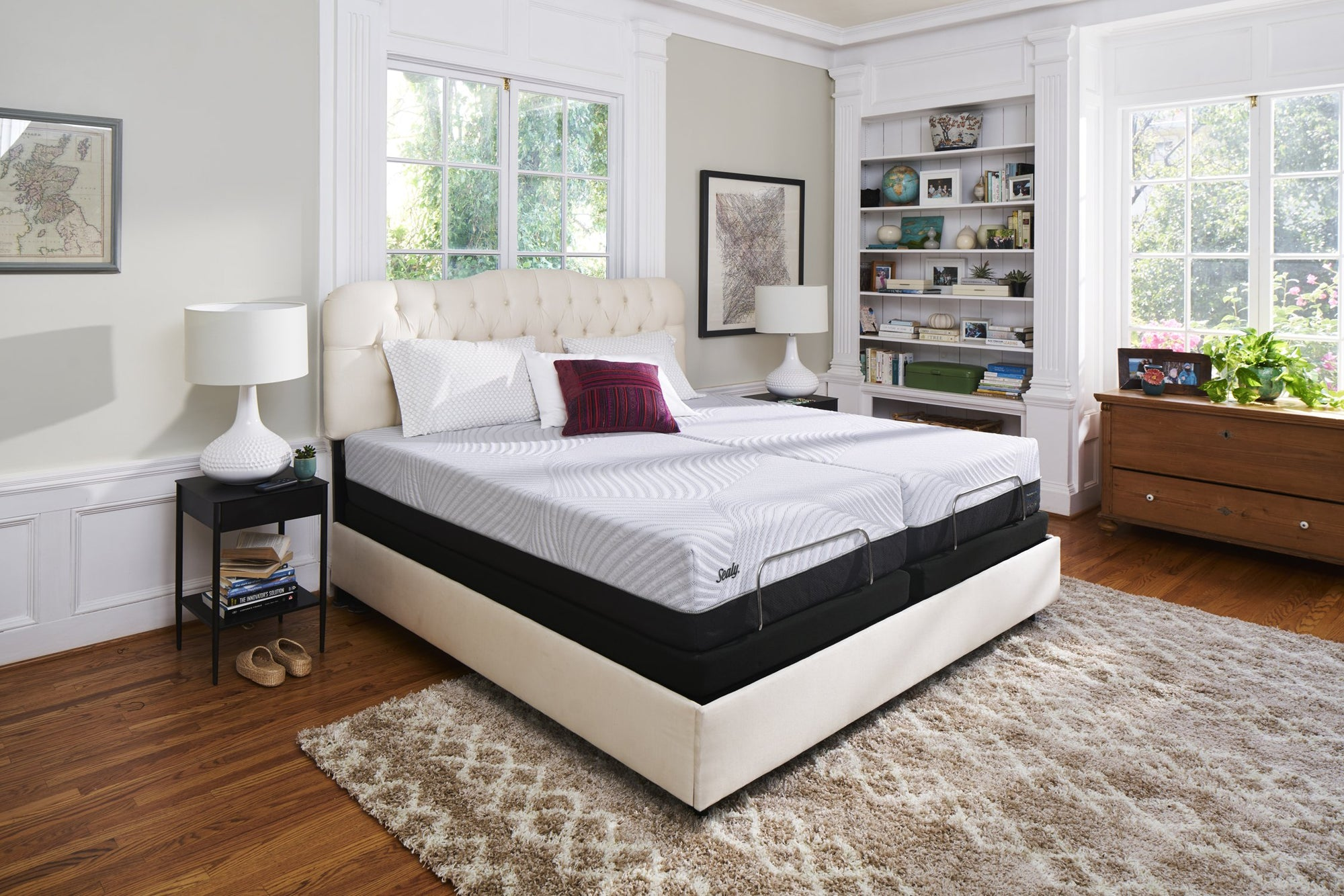 Sealy King Lifestyle Bedroom White