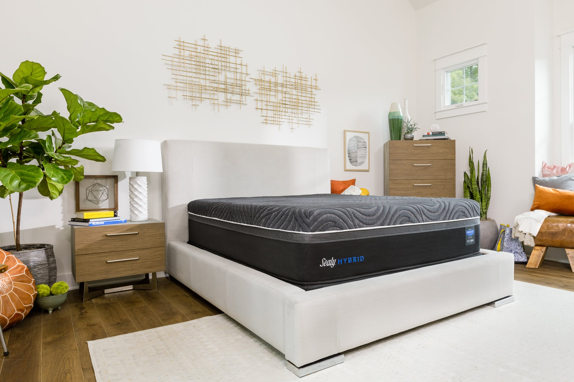 Sealy queen mattress bedroom lifestyle