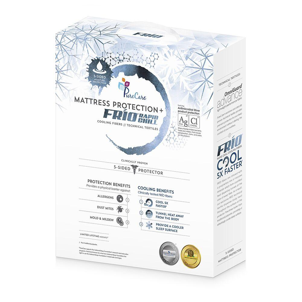 PureCare Frio 5-sided Mattress Protector Packaging Front