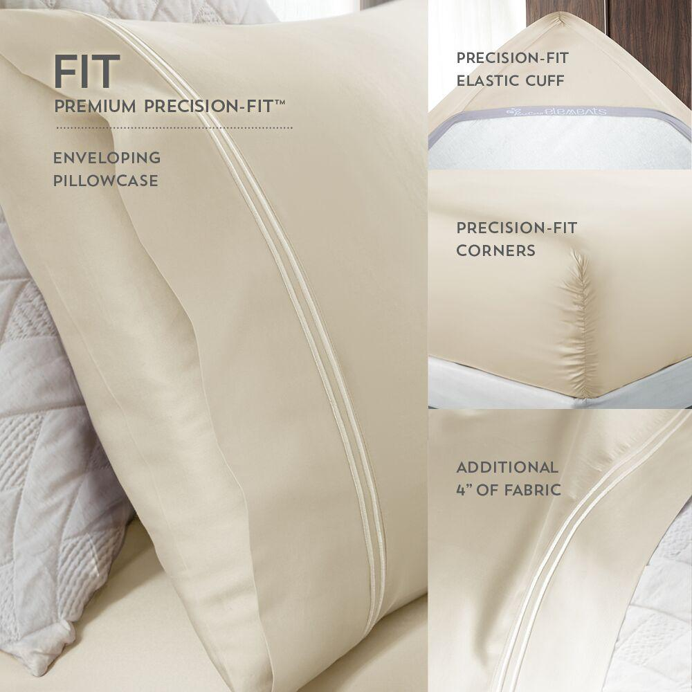PureCare Essentials Modal Sheet Set Benefits Corners, Pillowcases, and Elastic Cuff