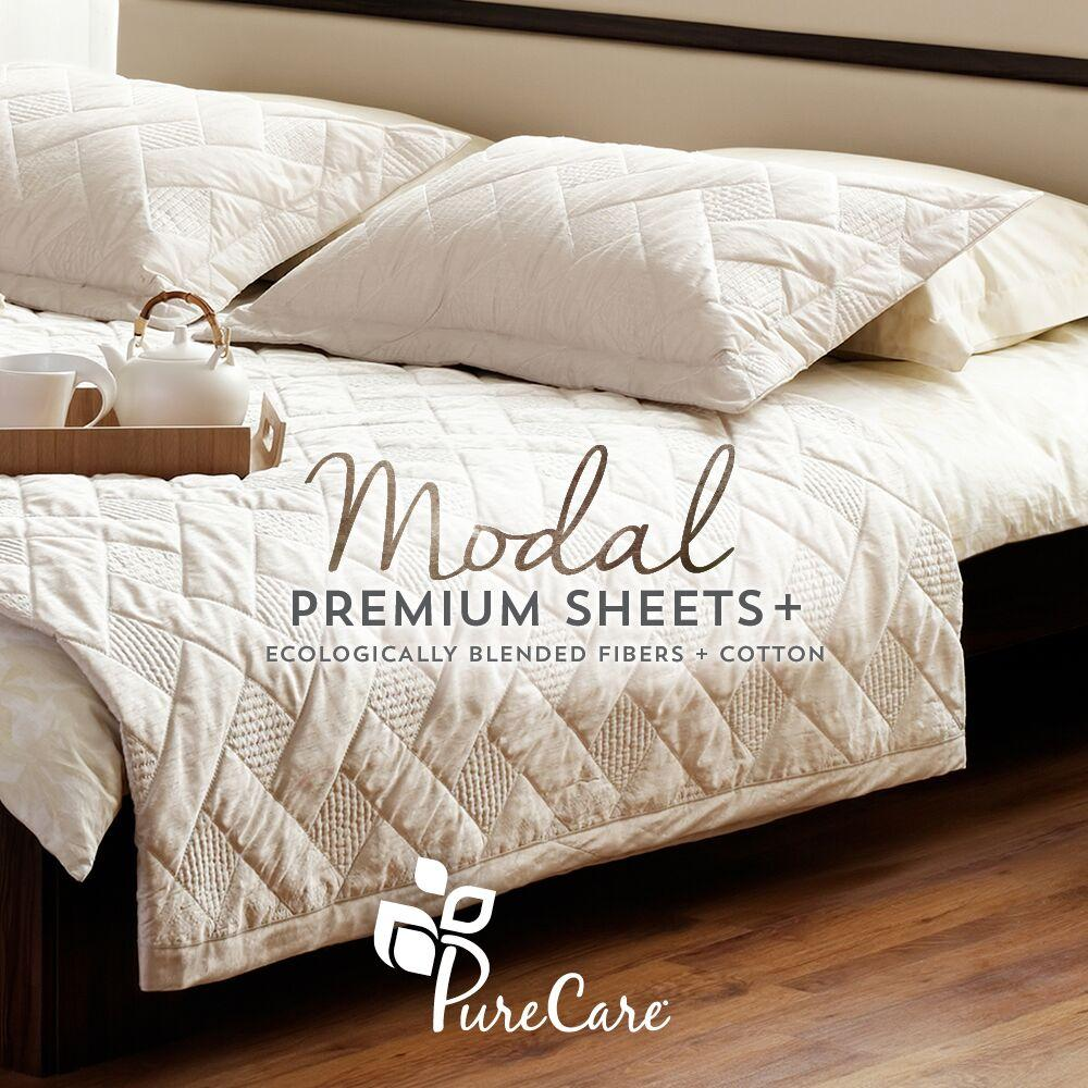 PureCare Essentials Modal Sheet Set On Bed