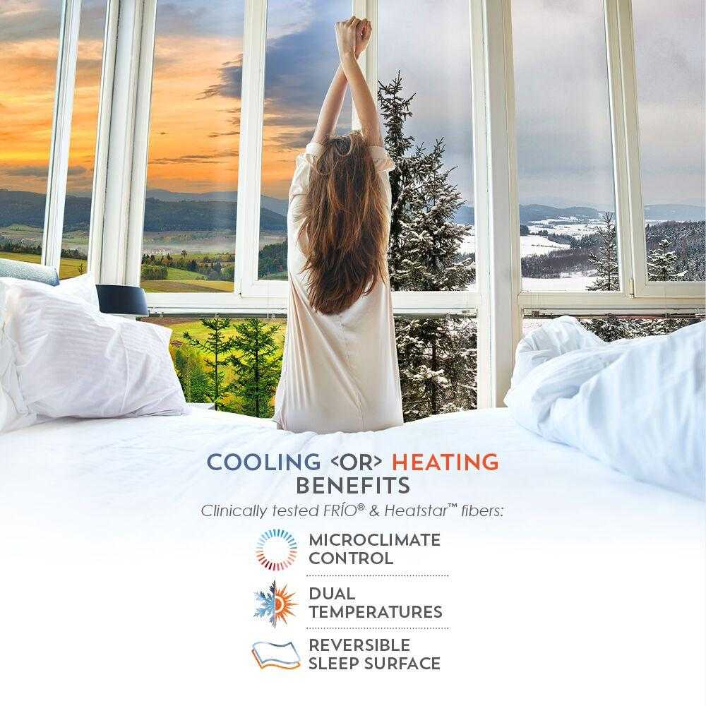 PureCare ReversaTemp 5-Sided Mattress Protector Cooling or Heating Benefits