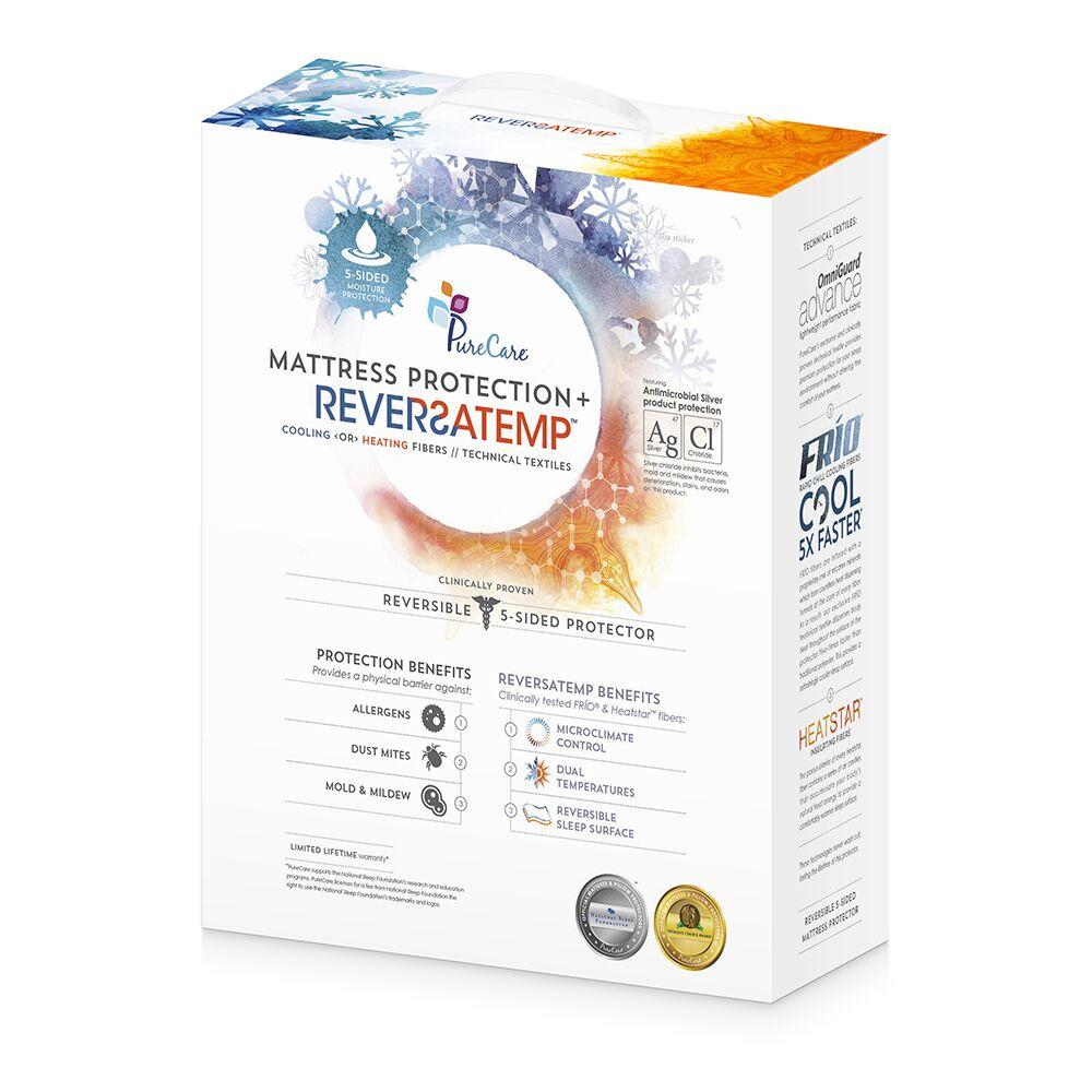 PureCare ReversaTemp 5-Sided Mattress Protector Front Packaging