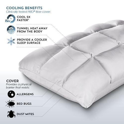 PureCare SUB-0° SoftCell Chill Reversible Hybrid Pillow Cooling Benefits