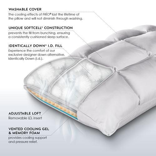 PureCare SUB-0° SoftCell Chill Reversible Hybrid Pillow Inner Details