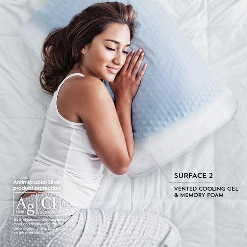 PureCare SUB-0° SoftCell Chill Reversible Hybrid Pillow Lady Sleeping Surface 2 Cooling