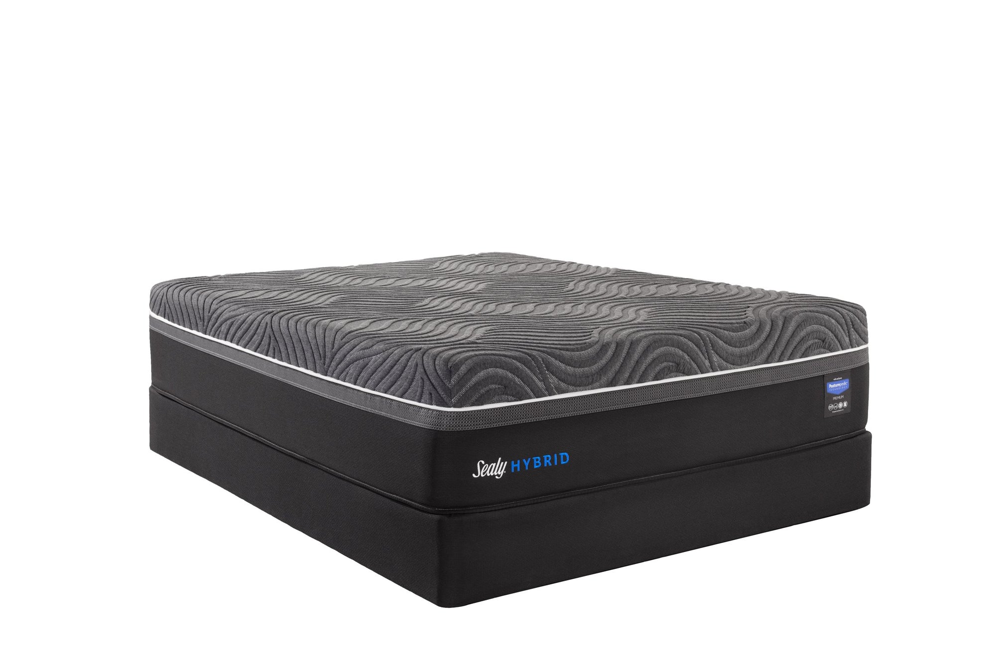 Sealy Hybrid Silver Chill Firm Mattress Set