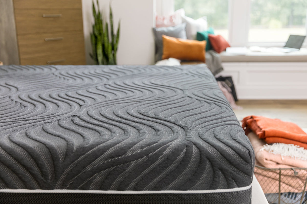 Sealy Hybrid Gold Chill Plush Mattress Detail Bedroom