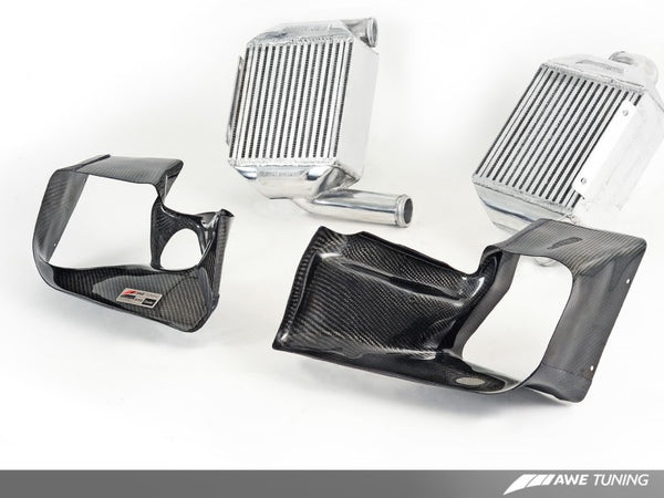 AWE Tuning Audi 2.7T Performance Intercooler Kit - w/Carbon Fiber Shrouds