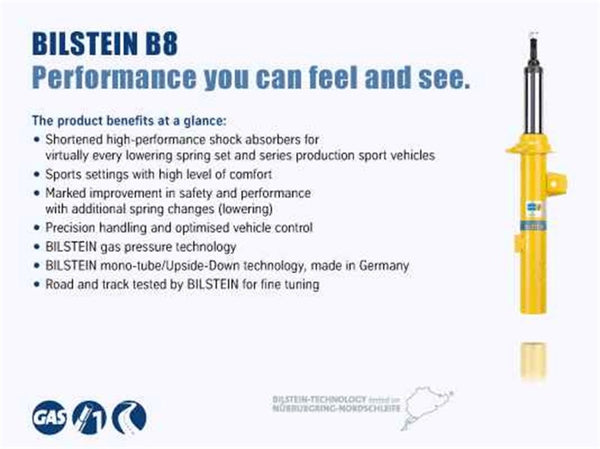 Bilstein B8 (SP) 06-11 BMW 323i/05-10 325i/07-12 328i/335i Front Left 36mm Monotube Strut Assembly