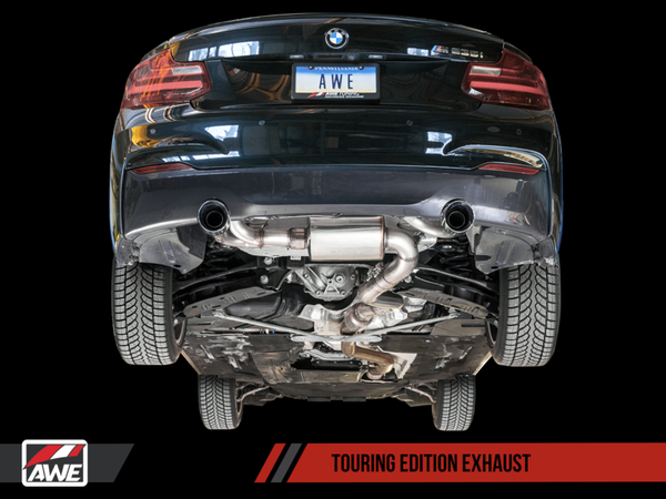 AWE Tuning BMW F22 M235i / M240i Touring Edition Axle-Back Exhaust - Diamond Black Tips (90mm)