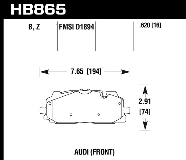 Hawk 18-19 Audi S5 Performance Ceramic Street Front Brake Pads
