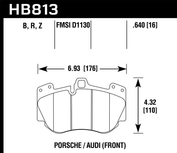 Hawk 13-15 Audi RS5 HPS 5.0 Front Brake Pads