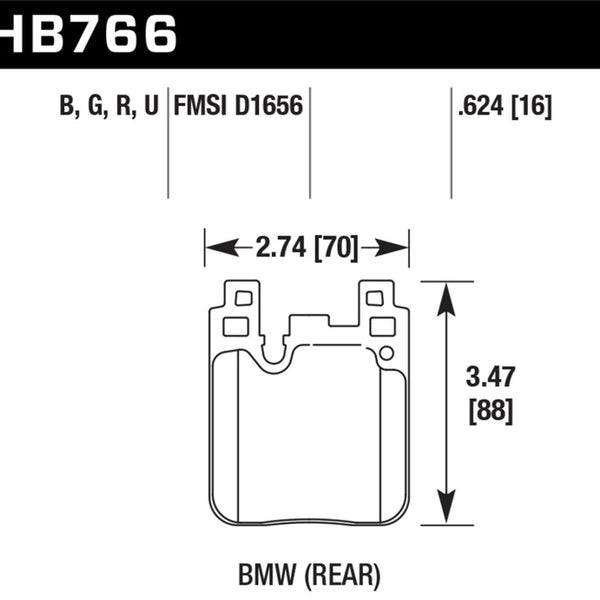 Hawk BMW DTC-60 Race Rear Brake Pads