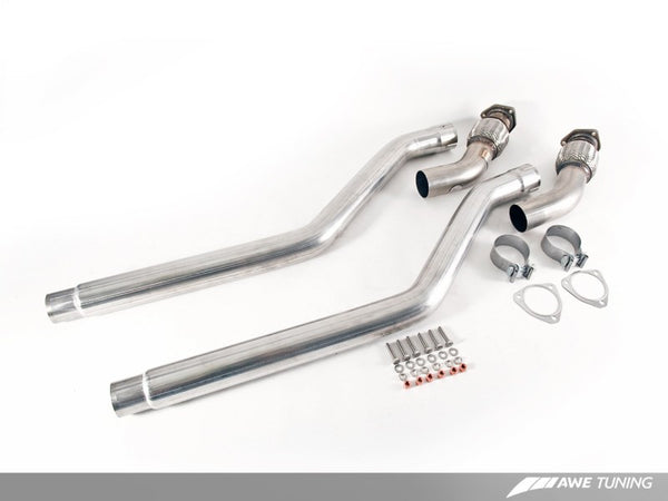 AWE Tuning Audi B8 3.0T Non-Resonated Downpipes for S4 / S5