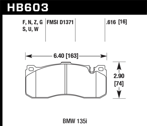 Hawk 08-13 BMW 1-Series HPS 5.0 Front Brake Pads