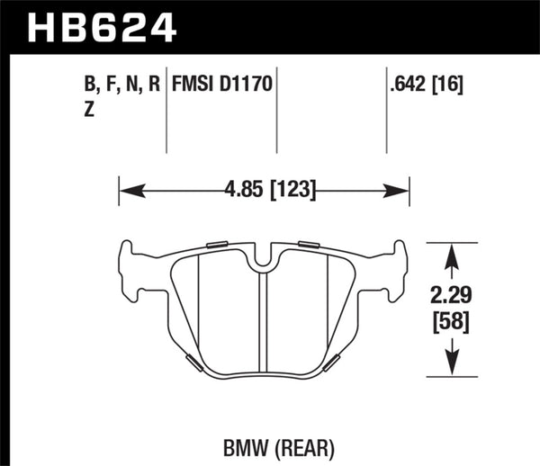 Hawk 06 BMW 330i/330xi / 07-09 335i / 07-08 335xi / 09 335d / 08-09 328i Performance Ceramic Street