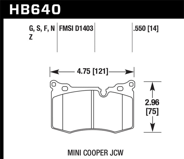 Hawk 09-15 Mini Cooper John Cooper Works DTC-60 Race Front Brake Pads
