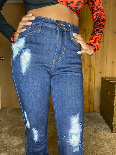 Bougie Shortie Ruched Jeans