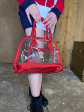 Load image into Gallery viewer, 3-piece Clear Satchel - Red Trim