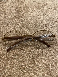Drippin' Unisex Glasses - Brown & Gold