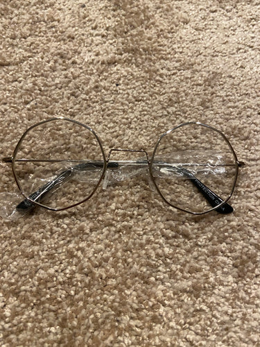Pretty N' Simple Octagon Unisex Glasses - Silver