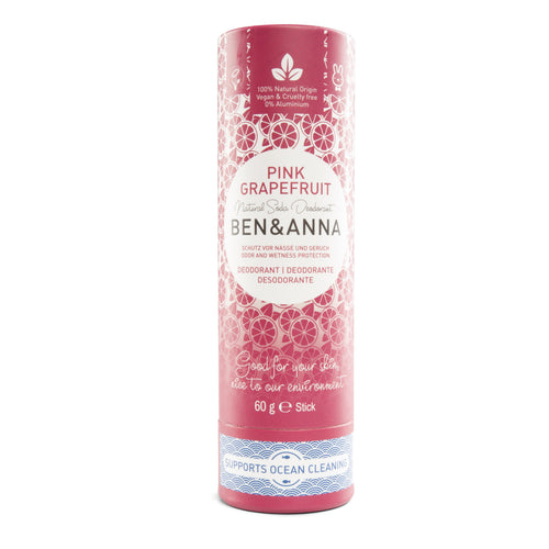 Ben & Anna Natural & Organic Deodorant - Pink Grapefruit 60g-Just Beauty Organics Store