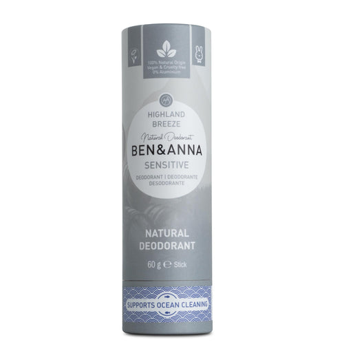 Ben & Anna Natural & Organic Deodorant Sensitive - Highland Breeze 60g-Just Beauty Organics Store