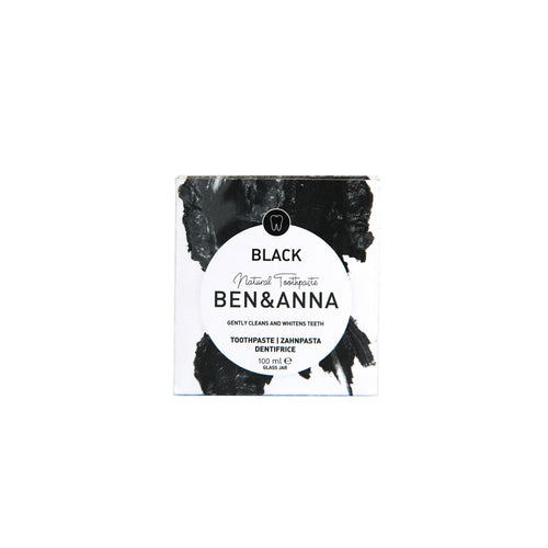 Ben & Anna Natural Toothpaste - Black, fluoride free 100ml-Just Beauty Organics Store
