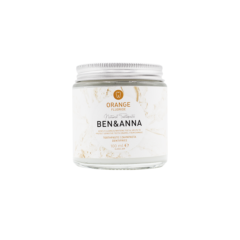 Ben & Anna Natural Toothpaste - Orange, with fluoride 100ml-Just Beauty Organics Store