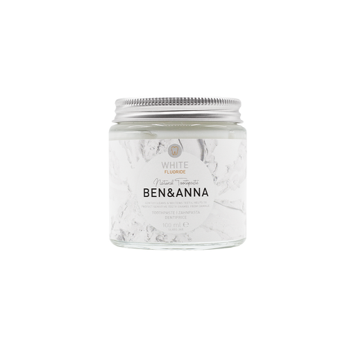 Ben & Anna Natural Toothpaste - White with fluoride 100ml-Just Beauty Organics Store