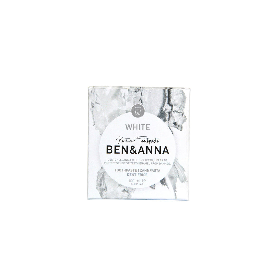 Ben & Anna Natural Toothpaste - Whitening, fluoride free 100ml-Just Beauty Organics Store