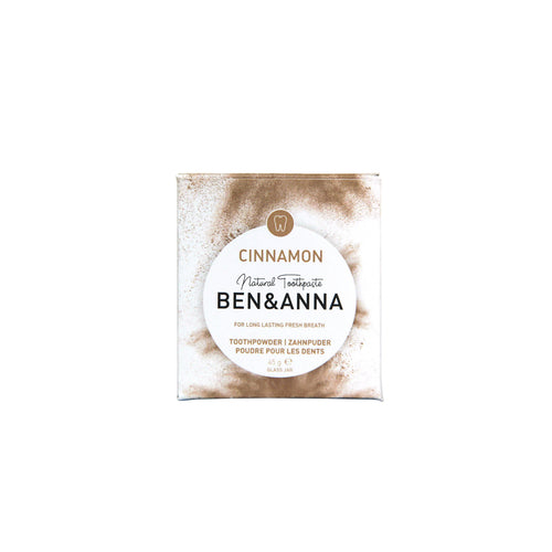 Ben & Anna Natural Toothpowder - Cinnamon 45g-Just Beauty Organics Store