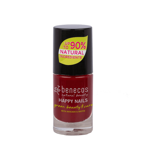 benecos Cherry Red Nail Polish 5ml-Just Beauty Organics Store