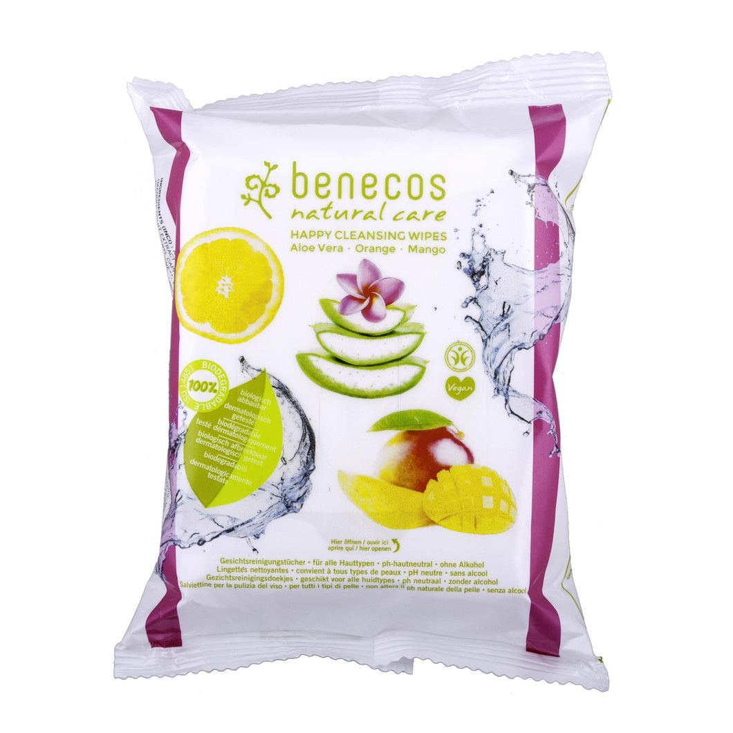 benecos Cleansing Wipes with Organic extracts-Just Beauty Organics Store
