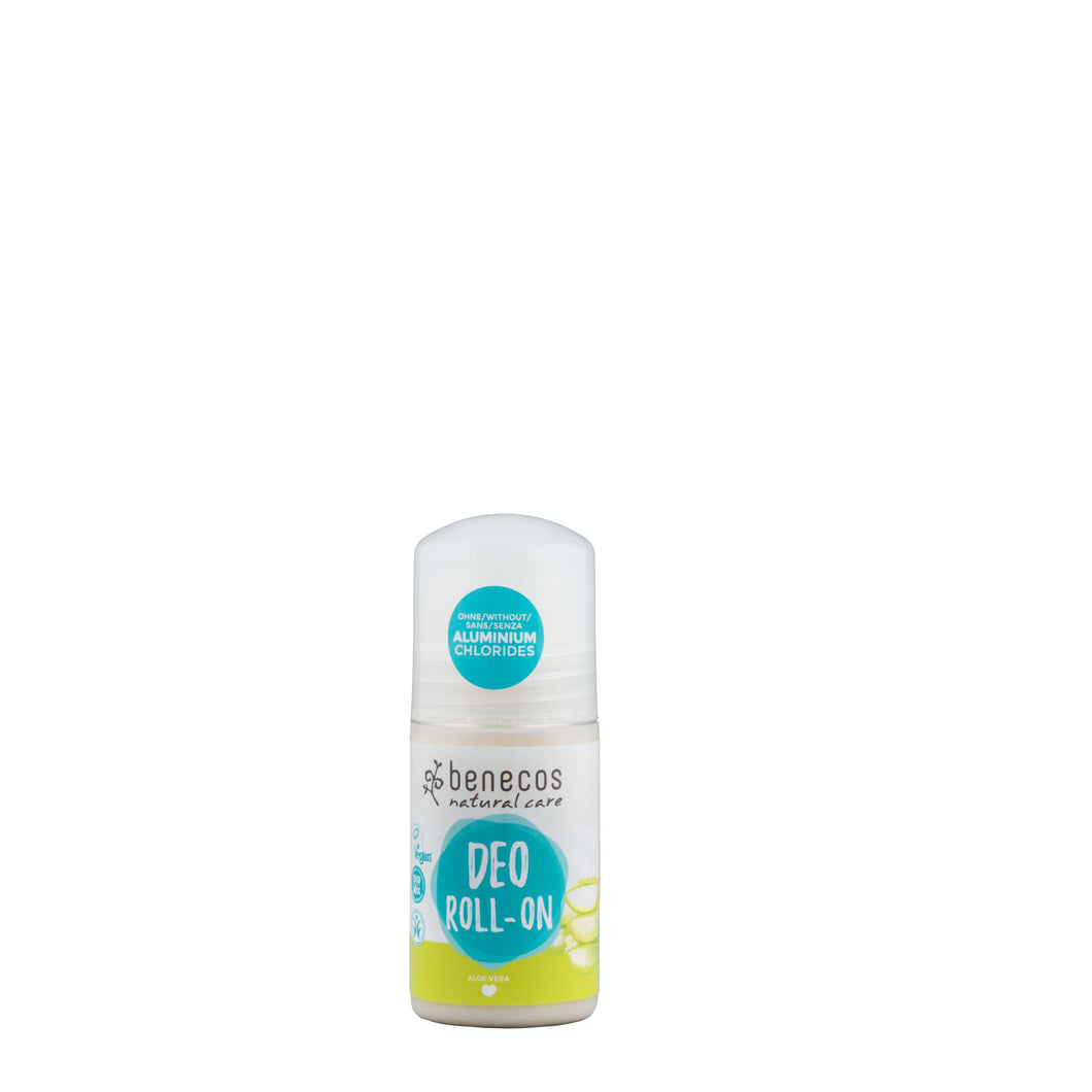 benecos Deodorant Roll On with Organic Aloe Vera 50ml-Just Beauty Organics Store