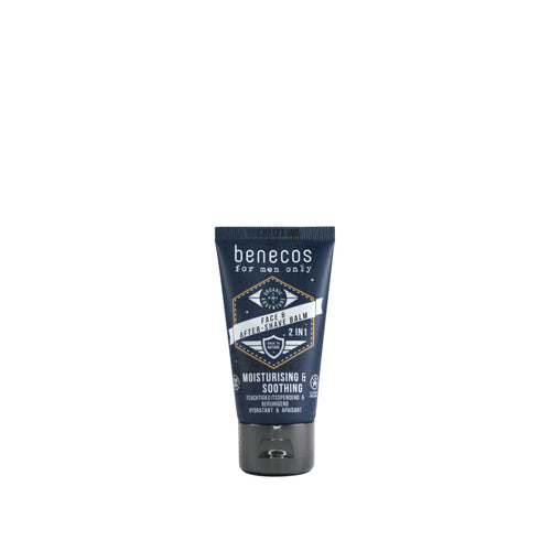 benecos Mens After Shave Balm with Organic Aloe Vera 50ml-Just Beauty Organics Store