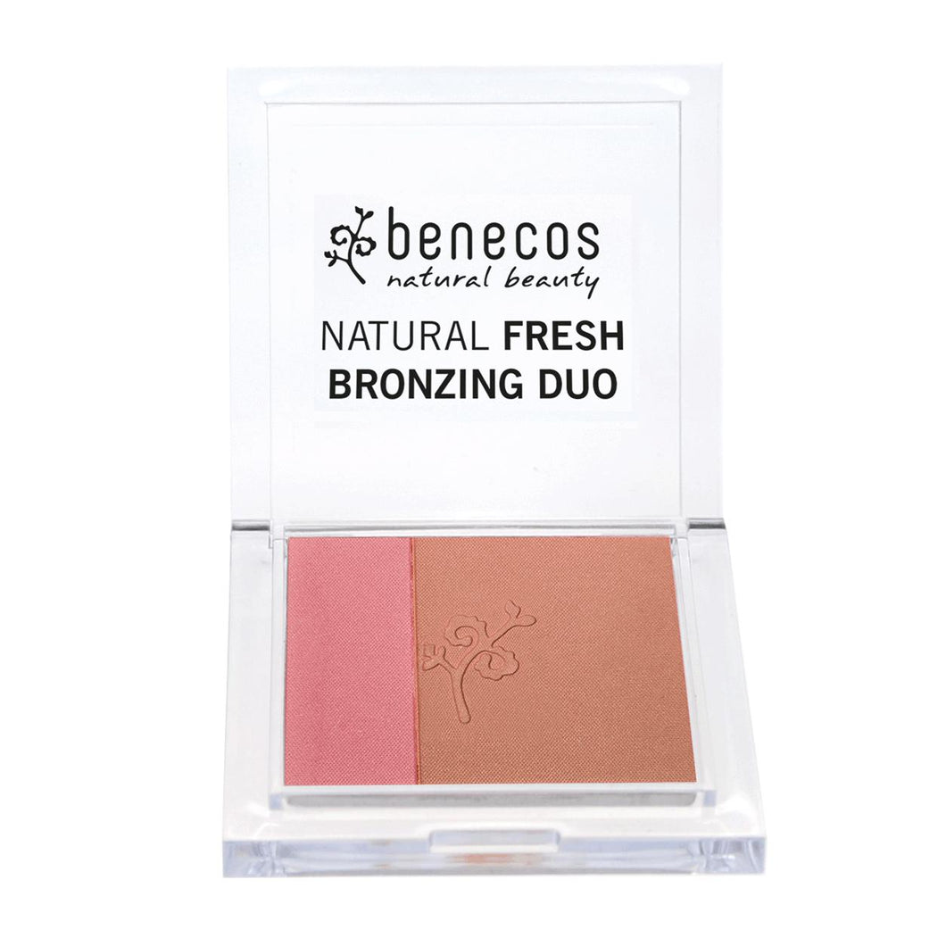 benecos Natural Fresh Bronzing Duo (Ibiza Nights) 8g-Just Beauty Organics Store