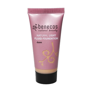 benecos Natural Light Fluid Foundation 30ml-Dune-Just Beauty Organics Store
