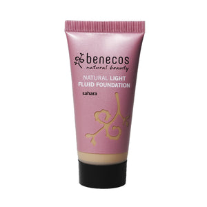benecos Natural Light Fluid Foundation 30ml-Sahara-Just Beauty Organics Store