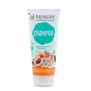 benecos Organic Apricot & Elderflower Shampoo - recommended for all hair types 200ml-Just Beauty Organics Store
