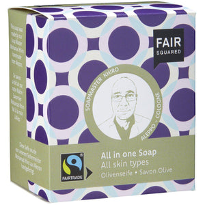 Fair Squared Zero Waste All in One Soap Organic Olive 2 x 80g-Just Beauty Organics Store