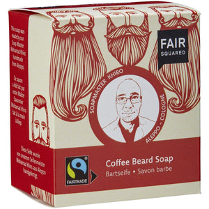 Fair Squared Zero Waste Beard Soap with Organic Coffee 2 x 80g-Just Beauty Organics Store