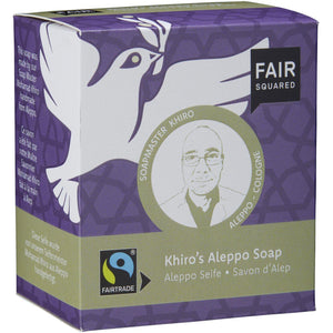 Fair Squared Zero Waste Khiro's Aleppo Soap with Organic Olive Oil 200g-Just Beauty Organics Store