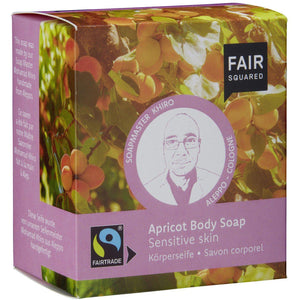 Fair Squared Zero Waste Organic Apricot Body Soap Sensitive 2 x 80g-Just Beauty Organics Store