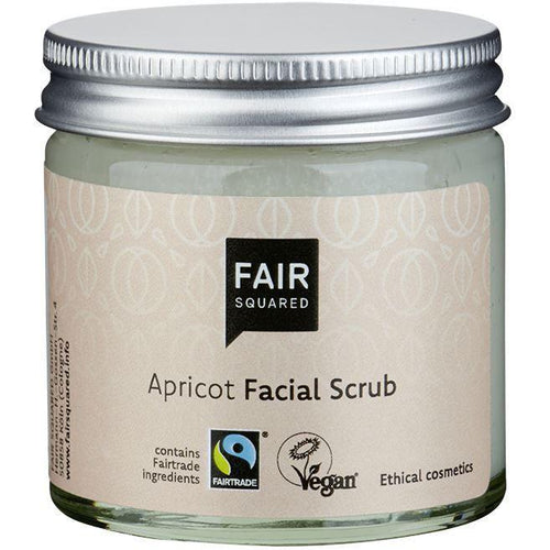Fair Squared Zero Waste Organic Apricot Facial Scrub 50ml-Just Beauty Organics Store